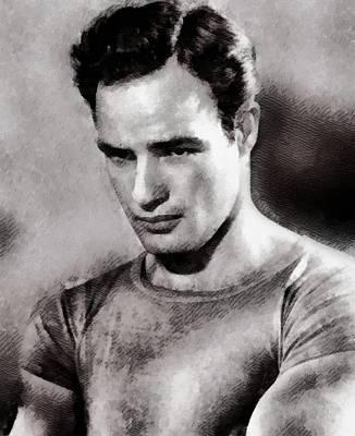 Elvis Presley Painting - Marlon Brando, Actor by John Springfield