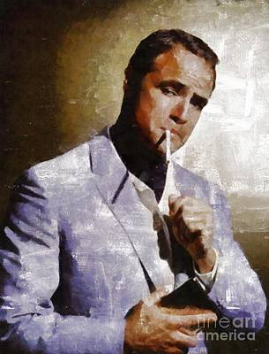 Musicians Royalty-Free and Rights-Managed Images - Marlon Brando by Mary Bassett by Mary Bassett