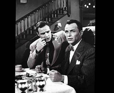 Guys And Dolls Photograph - Marlon Brando Frank Sinatra Guys And Dolls Set Goldwyn Studios 1955-2015 by David Lee Guss