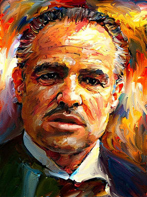 Digital Art - Marlon Brando God Father Portrait 2 by Yury Malkov