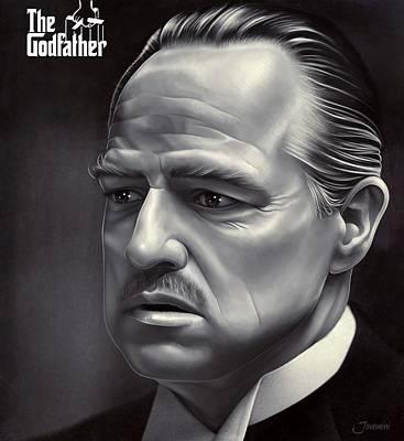Marlon Brando Drawing  Art Print