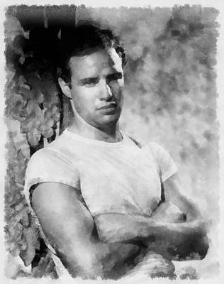Pop Art Rights Managed Images - Marlon Brando Royalty-Free Image by Esoterica Art Agency