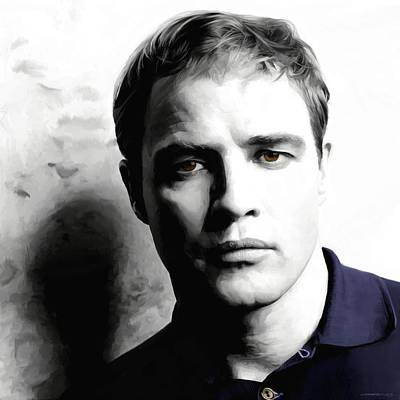 Digital Art - Marlon Brando Portrait #1 by Gabriel T Toro