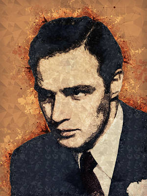 Mixed Media - Marlon Brando Portrait by Studio Grafiikka