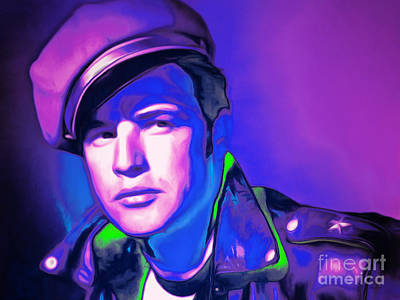 Photograph - Marlon Brando The Wild One 20160116 Horizontal M80 by Wingsdomain Art and Photography