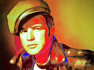 Photograph - Marlon Brando The Wild One 20160116 Horizontal P50 by Wingsdomain Art and Photography