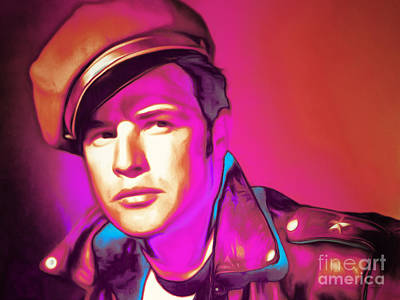 Photograph - Marlon Brando The Wild One 20160116 Horizontal by Wingsdomain Art and Photography