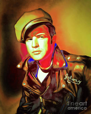 Photograph - Marlon Brando The Wild One 20160116 P50 by Wingsdomain Art and Photography