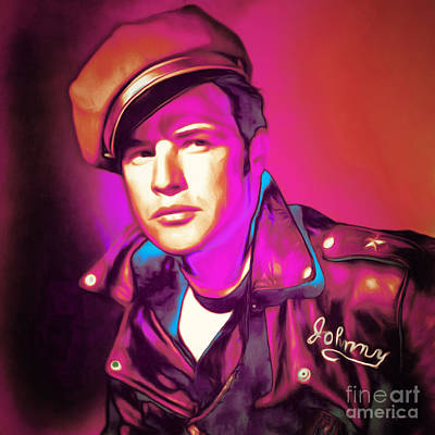 Photograph - Marlon Brando The Wild One 20160116 Square by Wingsdomain Art and Photography