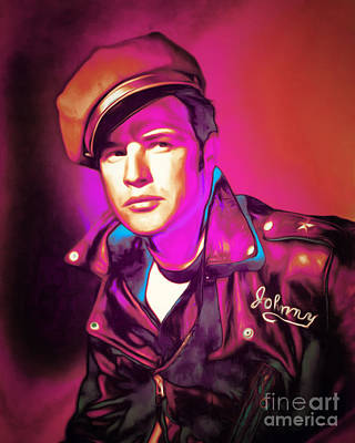 Photograph - Marlon Brando The Wild One 20160116 by Wingsdomain Art and Photography