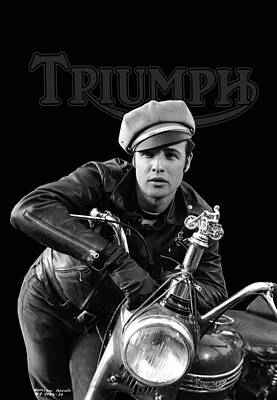Brando Photograph - Marlon Brando Triumph by Mark Rogan