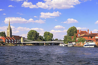 Photograph - Marlow Bridge by Tony Murtagh