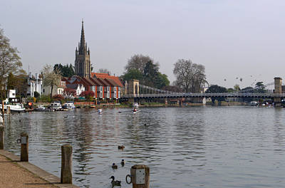 Photograph - Marlow By The River Thames by Chris Day