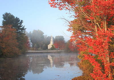 Marlow Village Early Autumn Morning Art Print