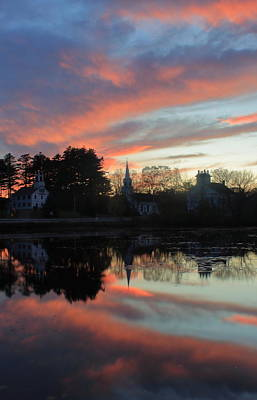 Photograph - Marlow Village Sunset by John Burk
