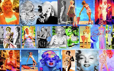 Munroe Digital Art - Marlyn Love by SS Love ART