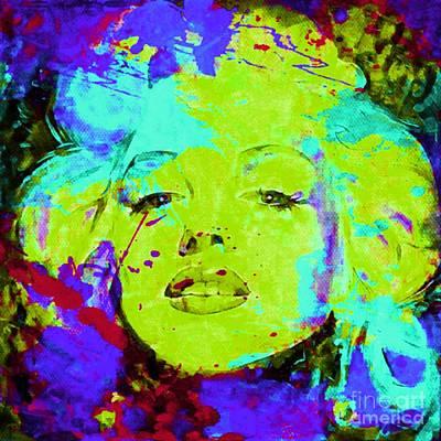 Andywarhol Painting - Marlyn Monroe Pop Art Pur Part 2 by Felix Von Altersheim