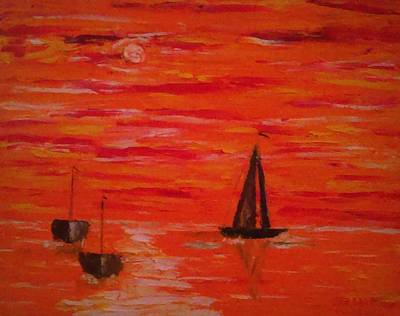 Painting - Marmalade Skies by Debbie