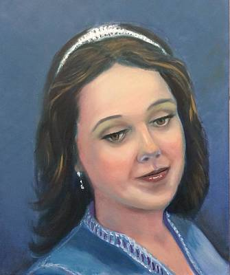 Painting - Young Lady  by Laila Awad Jamaleldin