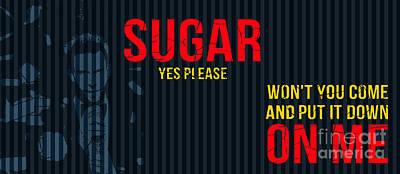 Billboard Mixed Media - Maroon 5 - Sugar Yes Please by Pablo Franchi