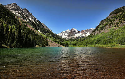 Photograph - Maroon Bells 1 by Judy Vincent