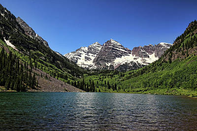Photograph - Maroon Bells 2 by Judy Vincent