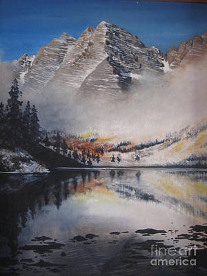 Painting - Maroon Bells by Barbara Prestridge