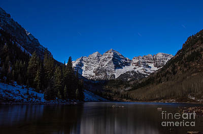 Photograph - Maroon Bells By Moonlight by Kelly Black