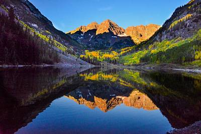 Photograph - Maroon Bells, Colorado by Marilyn Burton