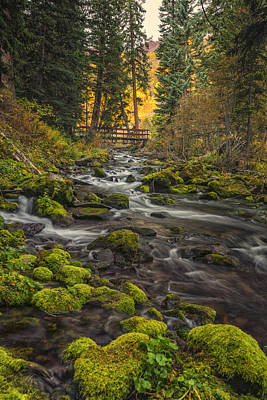 Photograph - Maroon Bells Creek Colorado Dsc06705 by Greg Kluempers