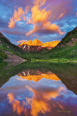 Photograph - Maroon Bells by Dan McGeorge