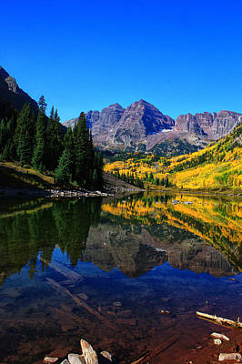 Maroon Bells In Aspen 2 Art Print by Bruce Hamel