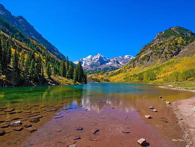 Photograph - Maroon Bells In Autumn by Doug Oriard