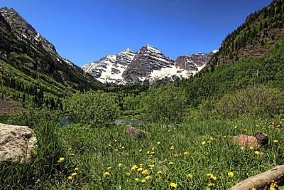Photograph - Maroon Bells In Summer 1 by Judy Vincent