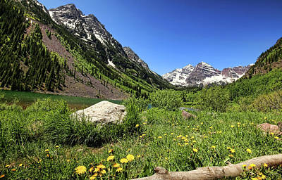Photograph - Maroon Bells In Summer 2 by Judy Vincent