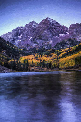 Painting - Maroon Bells by Joe Sparks