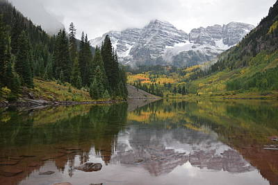 Photograph - Maroon Bells Lake, Aspen Co by Margarethe Binkley