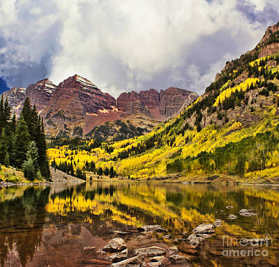 Photograph - Maroon Bells Lake by Steven Parker