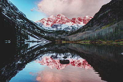 Photograph - Maroon Bells - Maroon Lake Reflections by Gregory Ballos