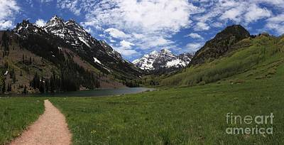 Photograph - Maroon Bells Meadow Landscape by Adam Jewell