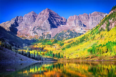 Photograph - Maroon Bells by Mike Braun