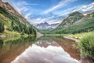 Photograph - Maroon Bells Near Aspen, Colorado by Peter Ciro