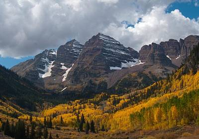 Photograph - Maroon Bells Peaks by Cascade Colors