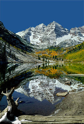 Photograph - 210426-maroon Bells Reflect  by Ed  Cooper Photography