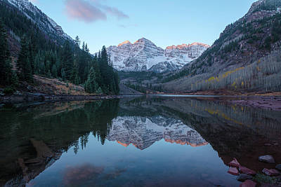 Photograph - Maroon Bells Reflection by Theresa Muench