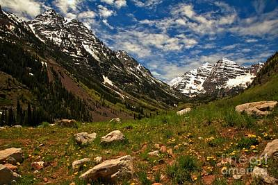 Photograph - Maroon Bells Rocky Meadow by Adam Jewell