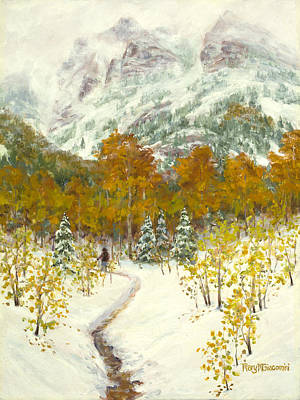 Impressionistic Landscape Painting - Maroon Bells-snowmass Wilderness Trek by Mary Giacomini