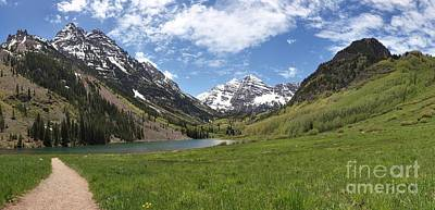 Photograph - Maroon Bells Trail Panorama by Adam Jewell