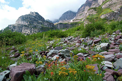 Photograph - Maroon Bells With Wildflowers by Cascade Colors