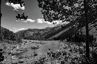 Photograph - Maroon Lake Black And White by Judy Vincent